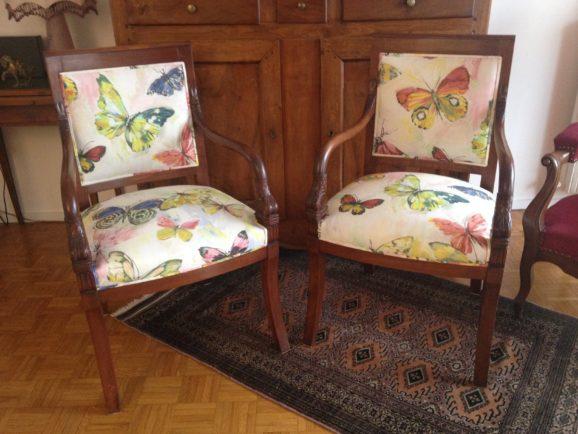 tapissier lyon décorateur maison ruf limonest restauration fauteuil chaise décoration
