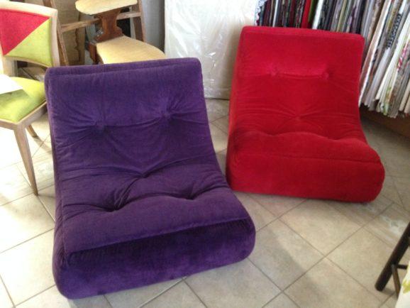 tapissier lyon décorateur maison ruf limonest restauration meuble fauteuil chaise contemporain design pouf décoration