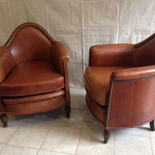 tapissier lyon décorateur maison ruf limonest restauration meuble fauteuil club cuir dos tortue suspension pullman décoration