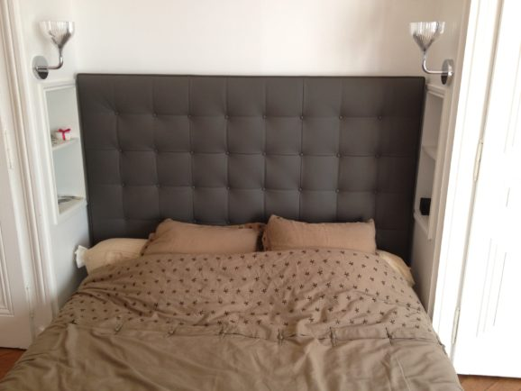 tapissier lyon décorateur maison ruf limonest restauration meuble tete de lit capitonné sur mesure tissu chambre décoration