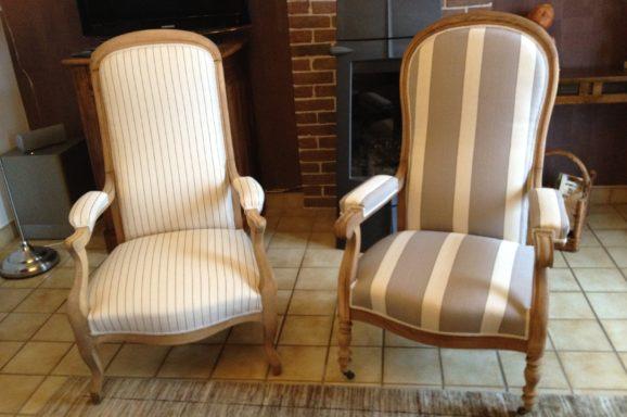 tapissier lyon décorateur maison ruf limonest restauration voltaire meuble fauteuil chaise contemporain design pouf décoration