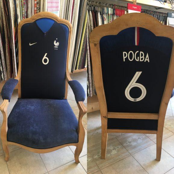 fauteuil sportif coupe du monde pogba maillot foot tapissier decorateur lyon anaelle martin